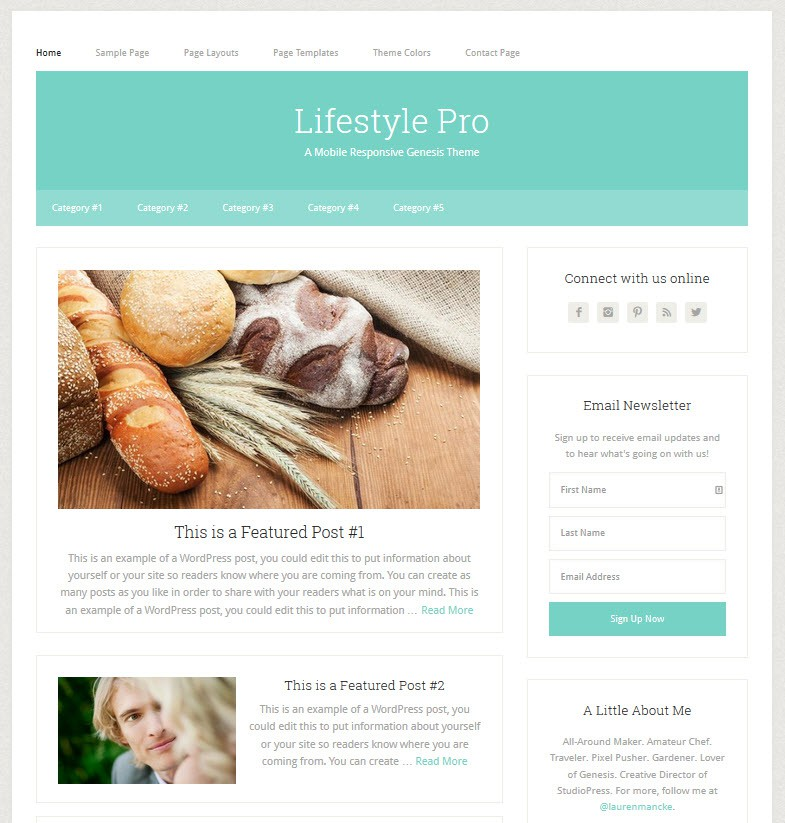 Lifestyle WordPress Child Theme from Studio Press
